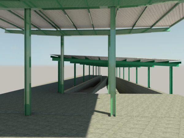 Obras de cubrición de las rampas de acceso al paso inferior de la Estación de Villanueva de Córdoba – Los Pedroches